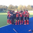 Hampstead & Westminster huddle after their win at Exeter University (pic Lee Power)