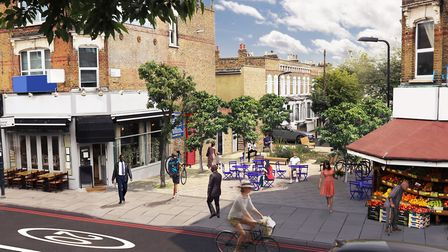 An artist's impression of the new-look gyratory. Picture: TfL