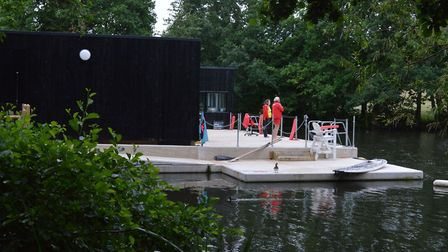 New ladies pond changing rooms at Hampstead Heath
