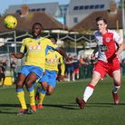 Chinedu McKenzie of Haringey Borough against Poole Town (pic: George Phillipou/TGS Photo)