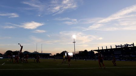 General view of a line out during the Heineken European Champions Cup match at Allianz Park, London.