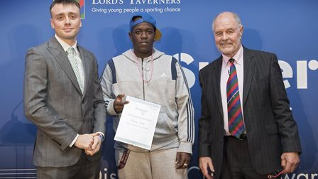 Terrance Frank of Hackney was named bowler of the Super 1s finals (pic: The Lord's Taverners)