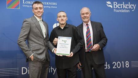 Richard Barnes of Hackney was named fielder of the Super 1s finals (pic: The Lord's Taverners)