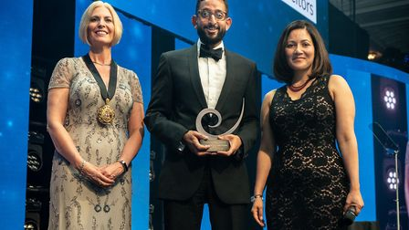 Ravi Naik receiving his accolade at the Law Society's Excellence Awards. Picture: Law Society