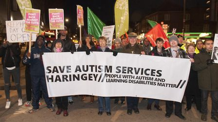 Community march to protest against cuts in Haringey's Budget