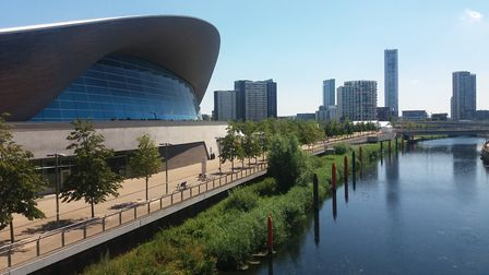 The Queen Elizabeth Olympic Park in Stratford. Picture: Ken Mears
