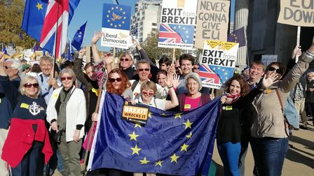 "Camden Lib Dem members at ""people's vote"" march in London at the weekend. Picture: Luisa Porritt"
