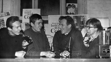 Fr Graham Hullett, who founded the motorbike section of the 59 Club, with members.