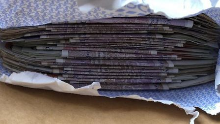 Cash recovered by the Scorpion Drug Team in Lowestoft. Photo: Drug Team and Scorpion twitter.