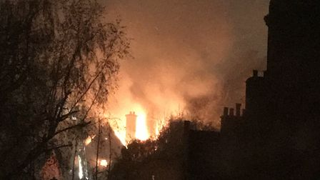 The Daleham Gardens fire in the early hours Tuesday morning