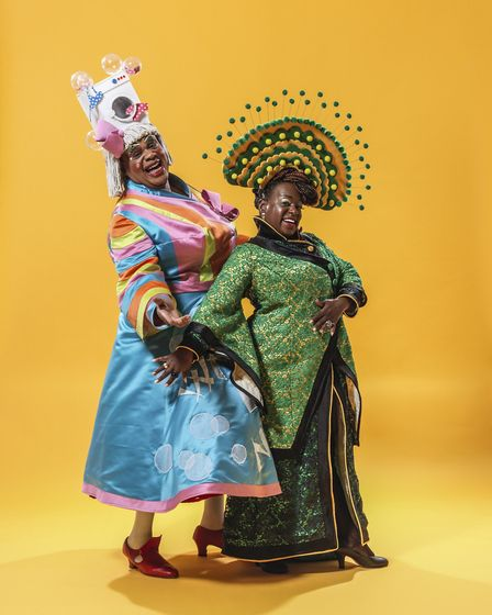 Clive Rowe appears as Widow Twankey and Eastenders' Tameka Empson plays The Empress. Picture: mrpero