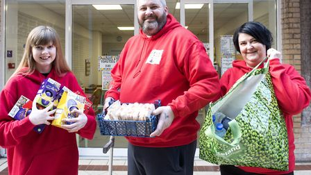 Ebony Salter (left) Stacey Drennan and Donna Salter from the Help Us Help Them volunteer group. Pict