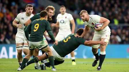 England's George Kruis in action during the Autumn International match at Twickenham Stadium (pic Ad