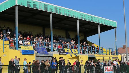 A crowd of 402 watched Haringey Borough defeat Poole Town by a 2-1 scoreline at Coles Park to qualif