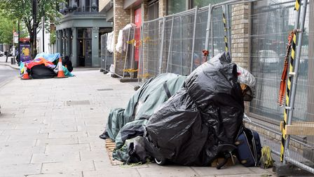 Homeless tents on the pavement in Mare Street earlier this year. Picture: Polly Hancock