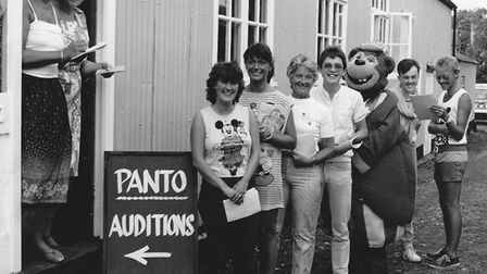 Panto auditions taking place at the Players' first home on Stradbroke Road. Picture: Courtesy of Bob