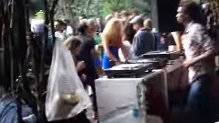 A rave in Hackney Wick woodland organised by Keep On Going. Picture: YouTube