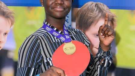 Victoria Boakye (12) of Wickers Charity crowned under-14 girls winner (Pic: Stephen Pover)