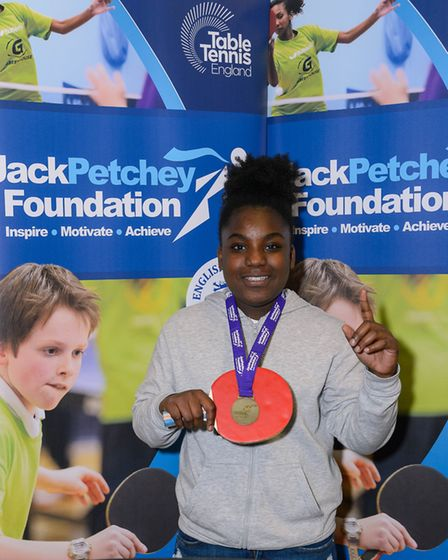 Tyeisha Coley (11) of Stoke Newington Youth Club was crowned under-12 mixed winner (Pic: Stephen Pov