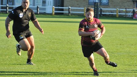 Matt Dawson in action for UCS Old Boys against Wasps (pic: Nick Cook)