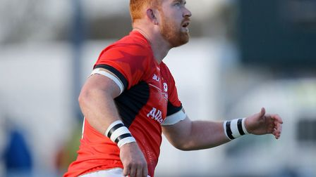 Joel Conlon in action for Saracens (pic: Richard Sellers/PA)