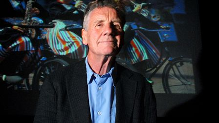 Michael Palin speaks about his travels around the world at the peter Samuel Theatre at the Royal Fre
