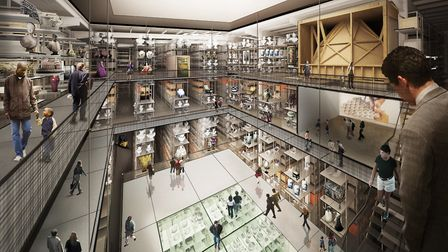 An artist's impression of the new V&A collection and research centre at Here East. Picture: Diller S
