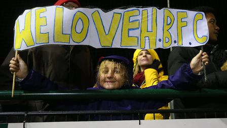 A fan of Haringey Borough during their FA Cup first round tie at home to AFC Wimbledon (pic: George