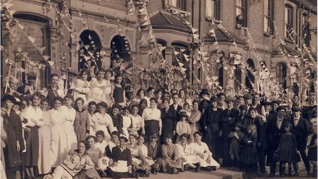 A street party on Daubeney Road, Clapton, to celebrate the Armistice, 1918. Pic: Hackney Archives/Lo