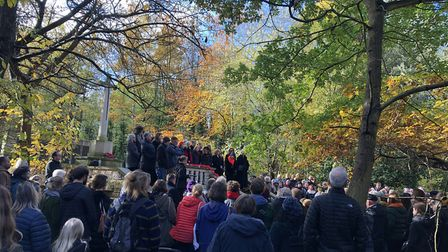 The Remembrance Day service in Abney Park. Picture: Emma Bartholomew