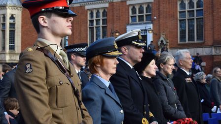 Remembrance Sunday saw a minutes' silence observed. Picture: Polly Hancock