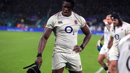 England's Maro Itoje appears dejected after the Quilter International match at Twickenham Stadium (p