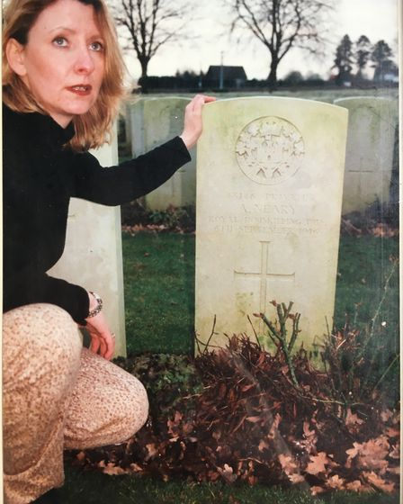 Sharon travelled to France where she found Andrew's grave. Pic: SHARON BAXTER