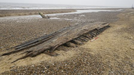 Photos of the wreck on the Covehithe coast. Picture: Linzi Everett