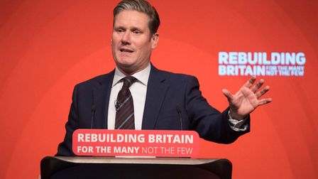 Holborn and St Pancras MP and shadow Brexit secretary Sir Keir Starmer. Picture: PA Wire/Stefan Rous