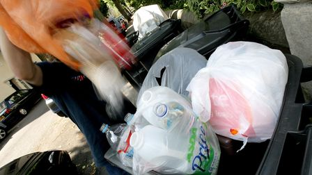 Some bins were left uncollected in East Finchley. Picture: Anthony Devlin/PA Images