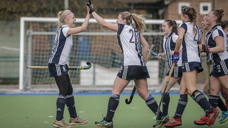 Hampstead's Lucy Hyams celebrates (pic Mark Clews)