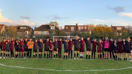 The Hall School and Highgate line up before their big cup derby