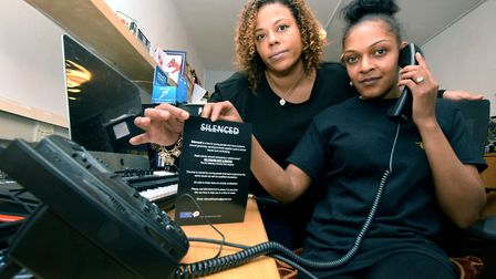 Grace Aloba and Neide Dacruz launch two new phone helplines at The Crib. Picture: Polly Hancock