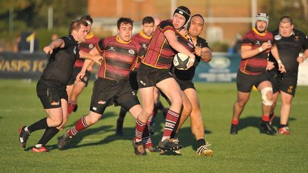 Action from UCS Old Boys against Wasps in Herts/Middlesex One (pic: Nick Cook)