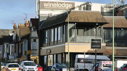 The Winelodge building is up for sale. Picture: Nick Butcher