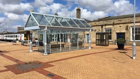 The station concourse at Lowestoft Railway Station, which will be restored. Picture: Courtesy of Eas