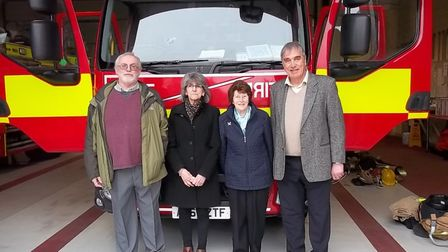 Peter Walker, Wendy Catchpole, Pam Shaw and Mick Howes, who met to commemorate 50 years since the Au