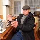 David Taylor of Exbury House has been given two small fan heaters to heat his flat. Picture: Polly H