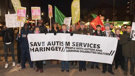 Community march to protest against cuts in Haringey's Budget.