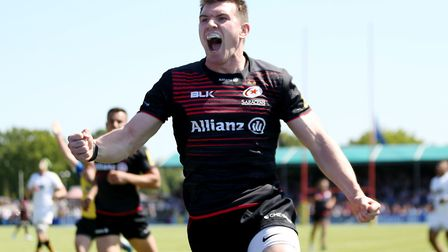 Ben Spencer scored 14 points from the tee for Saracens against Sale (pic: Paul Harding/PA)