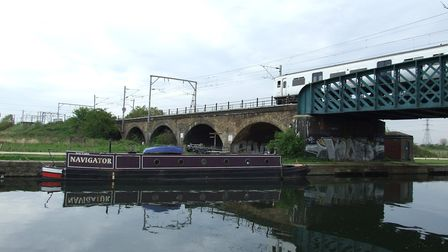 A file image of the River Lea, near the towpath where a gang has targeted six people in days. Pictur