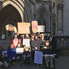 Supporters of families fighting a legal battle against Hackney Council over cuts to special educatio