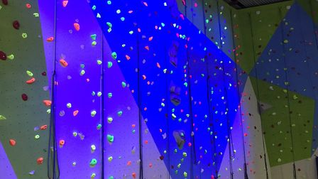 The new East Face climbing wall. PICTURE: Waterlane Leisure Centre.