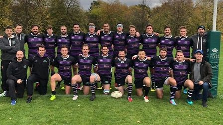 Belsize Park pose for the camera after their latest win (Pic: Mark Liebling)